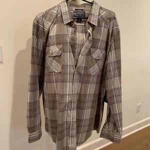 BNWT American Rag Men's Contrast Trim Plaid Shirt